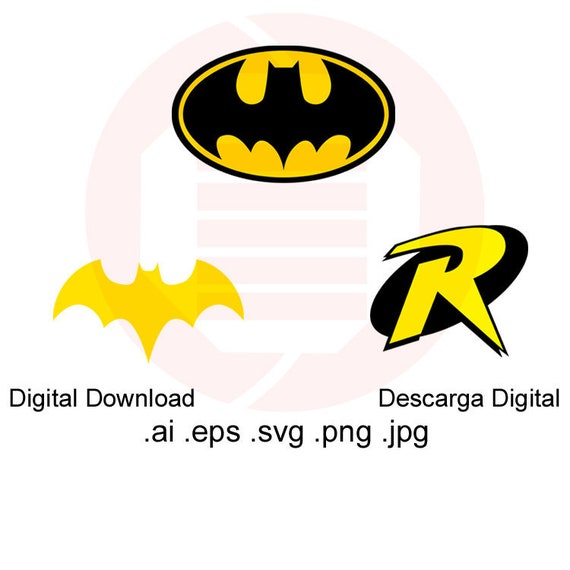 picture regarding Batgirl Logo Printable called Batman brand SVG Superhero symbol SVG Robin Batgirl vector clipart printable wall artwork decal decor ornament cosplay minimize report electronic down load