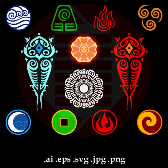 Avatar The Last Airbender Svg Clipart Vector Art Symbol Cut Etsy