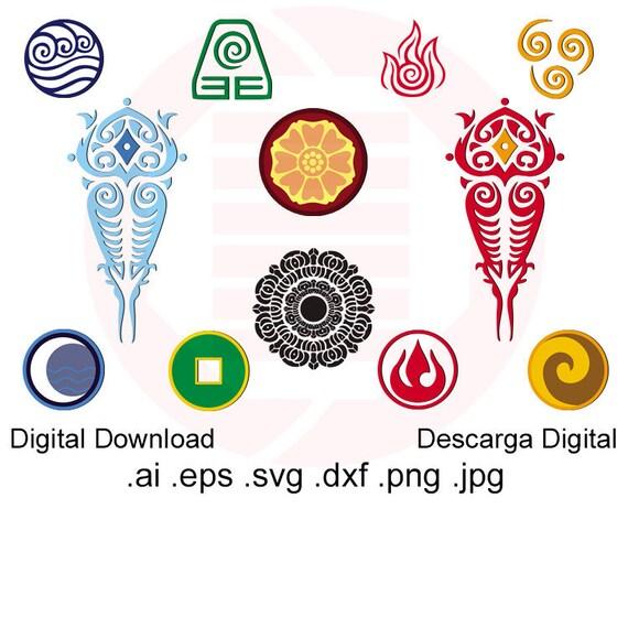 Avatar Last Airbender Svg Clipart Cut File Printable Wall Art Etsy