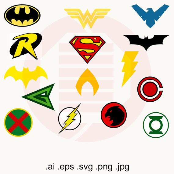 Superheroes SVG clipart vector art Justice League printable | Etsy