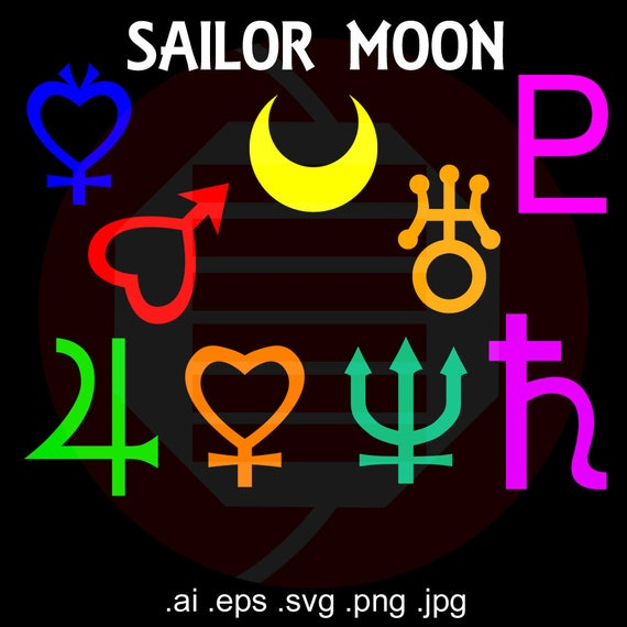 Sailor Moon Anime Svg Vector Clipart Gift Symbols Cosplay Etsy