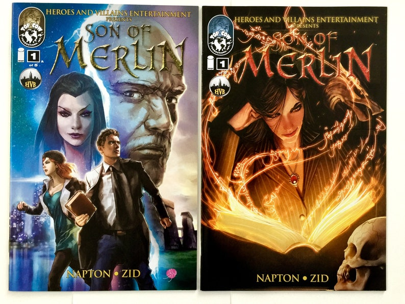 Son Of Merlin #1 & #1 variant cover - RARE - Top Cow - Image Comics Free  shipping
