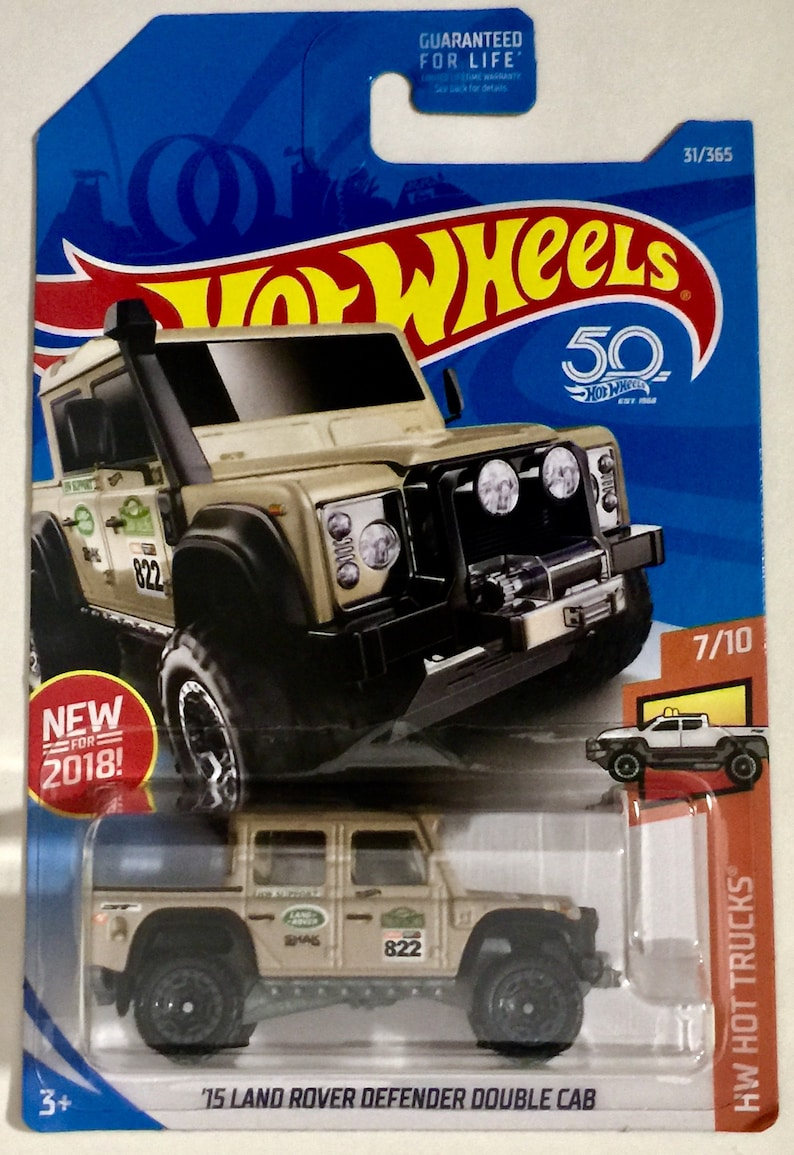 hot wheels '15 land rover defender double cab 31/365 hw | etsy