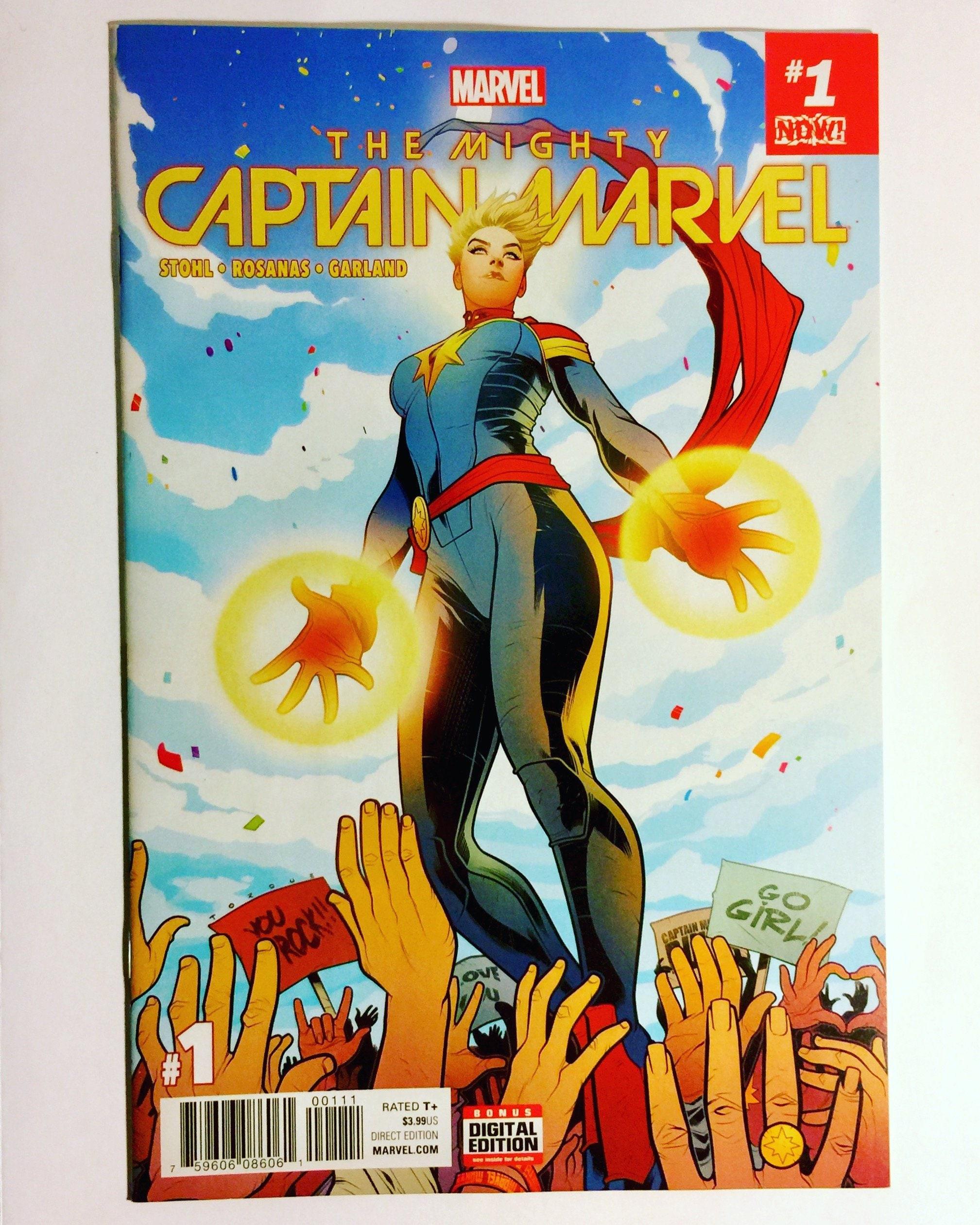 mighty captain marvel 1 hot title hot issue marvel comics | etsy