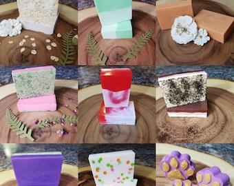 TWO Homemade Natural Bar Soaps, Gift set, Set of 2, free shipping,