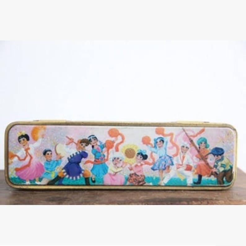 Chinese Vintage Iron Pencil Box Art Decoration Ethnic Etsy