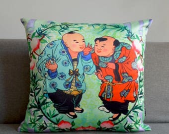 Chinese traditional pattern sofa pillow