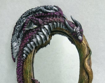 Dragon Hand Mirror Dragon Handheld