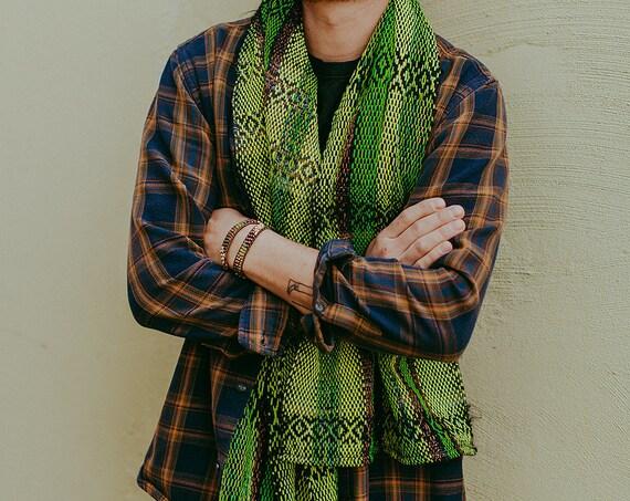 Green Series Woven Scarf III