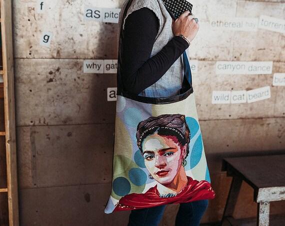 Black and Frida Leather Handbag