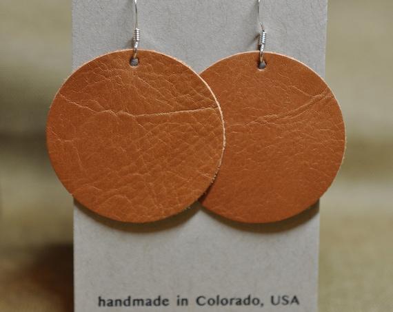Smooth Orange Moon Earrings