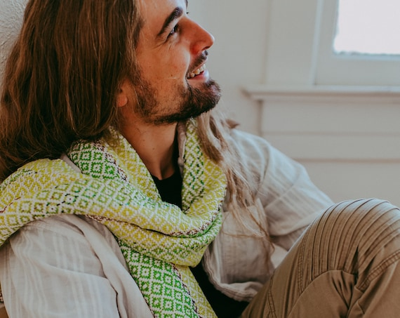Green Series Woven Scarf I