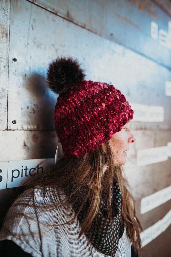 Vail Ski Hat - Burgundy