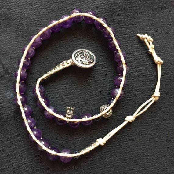 Amethyst Wrap Bracelet