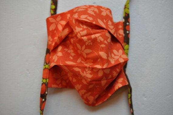 Orange Foliage and Big Flowers Mask