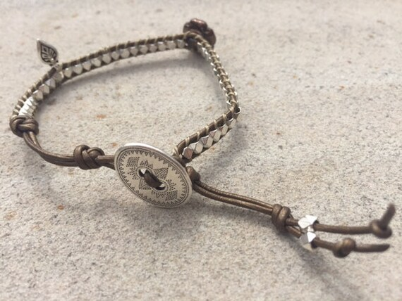 Silver Single Wrap Bracelet