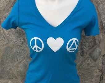 Peace Love AA T-shirt