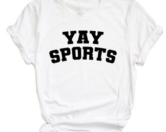 Yay Sports - superbowl, football, baseball game day shirt - great gift! MEMI Apparel