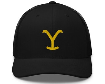 "Yellowstone  (TV Series) ""Y"" Trucker Hat Cap Dutton Ranch - MEMI Apparel (free shipping!)"