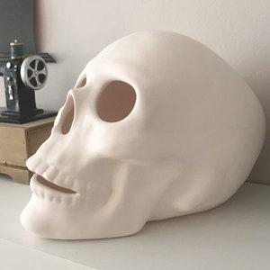 Ceramic Skull Halloween Skull Ceramic Sculpture Day Of The Etsy