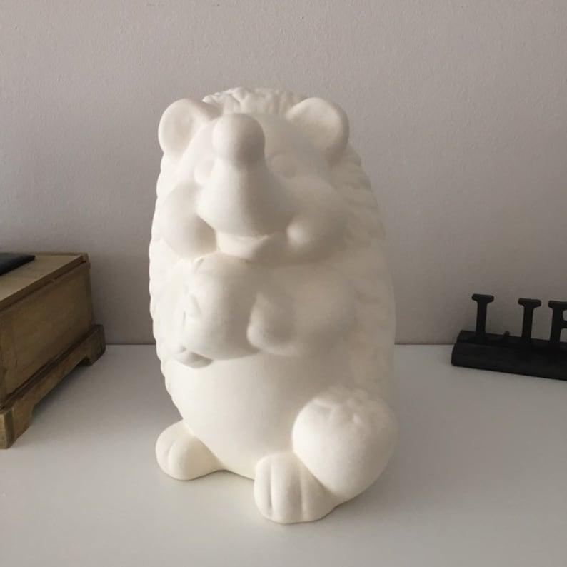 Ceramic Hedgehog Gift idea Party Decor Unfinished Hedgehog Home Decor Birthday Gift Hedgehog Sculpture Hedgehog Figure Easter Decor