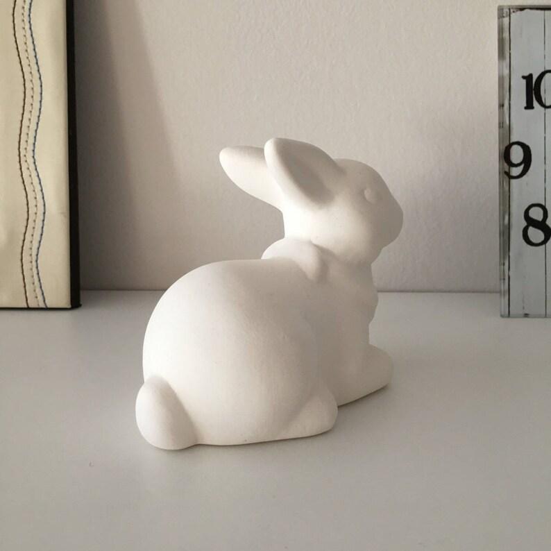 You Paint Ceramic Bisque Bunny U-Paint Ready to Paint Bisque Bunny Decoration Easter Bunny Free Time Unpainted Rabbit Kids Decor