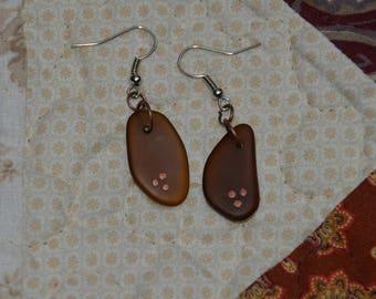 Handmade Tumbled Glass Earrings