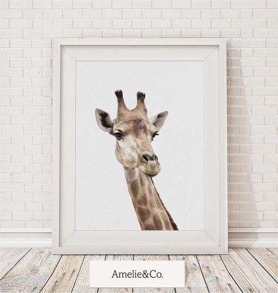 Giraffe Print Giraffe Wall Art Nursery Decor Nursery Animal | Etsy