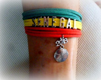Global 2018 LE SENEGAL bracelet soccer World Cup