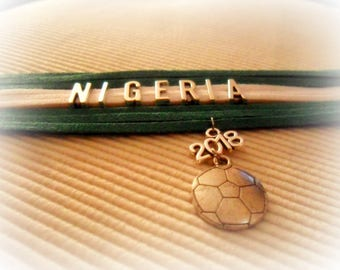 Global 2018 LE NIGERIA bracelet soccer World Cup