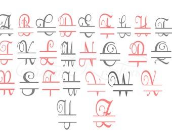 Split Letters A-Z    SVG File