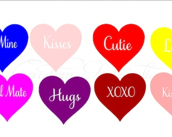 Candy Hearts Messages_ Valentines SVG File