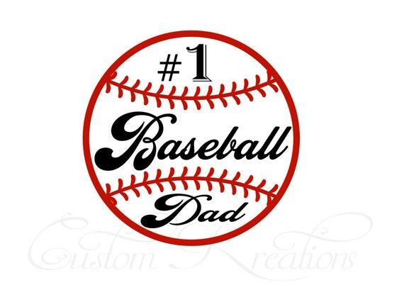 Number One Baseball Dad Svg File Etsy