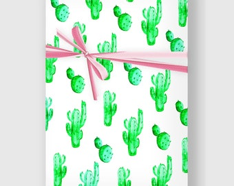 Cactus Wrapping Paper, Digital Gift Wrap Sheet, Minimal Gift Wrap, Cacti Wrapping Paper, Holiday Wrap, Printable Wrapping Paper,DIGITAL FILE