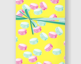 Macarons Wrapping Paper, Digital Gift Wrap, French macaron Wrap, Wrapping Paper, Holiday Gift Wrap, Printable Wrapping Paper, DIGITAL FILE