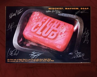 Fight Club Handsigned Poster by 8 Cast Members