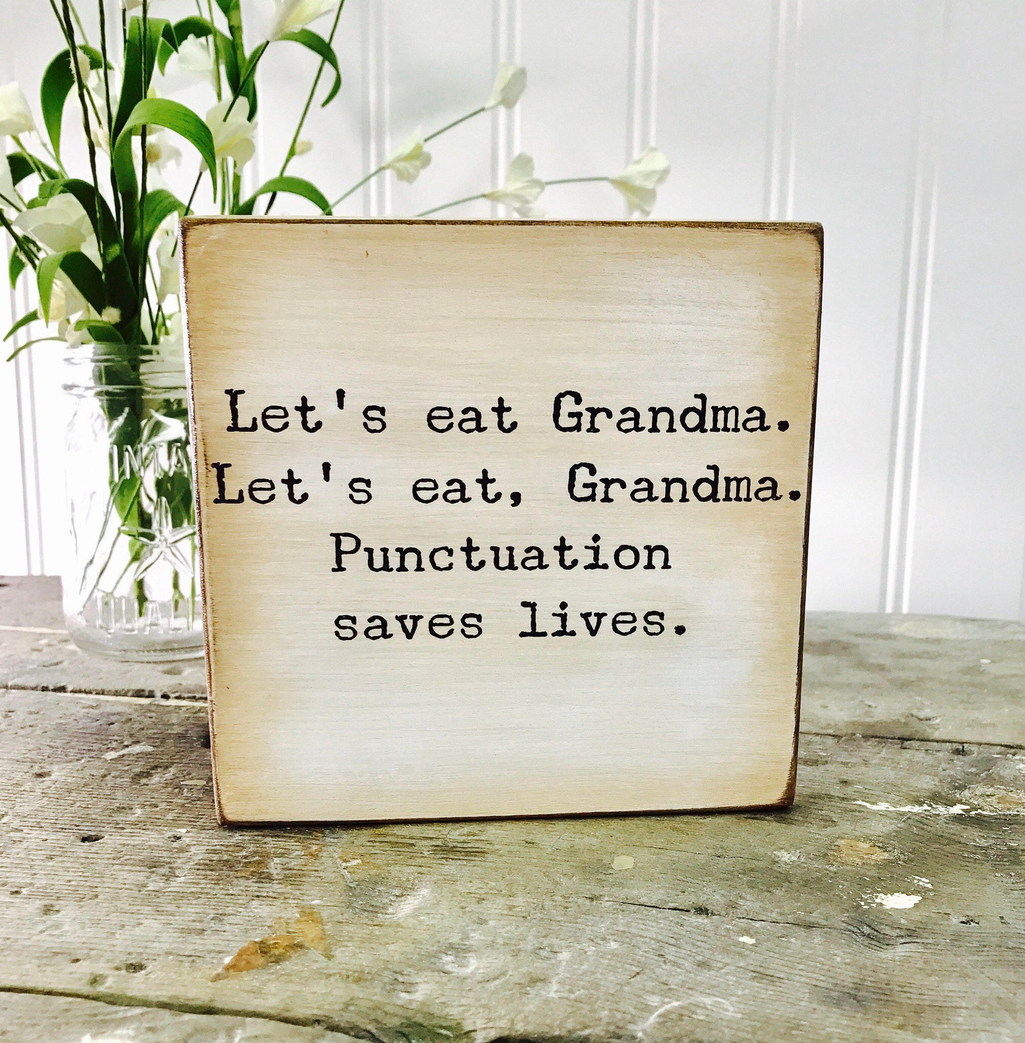 Ships Free Punctuation Quote Lets Eat Grandma Our Chunky