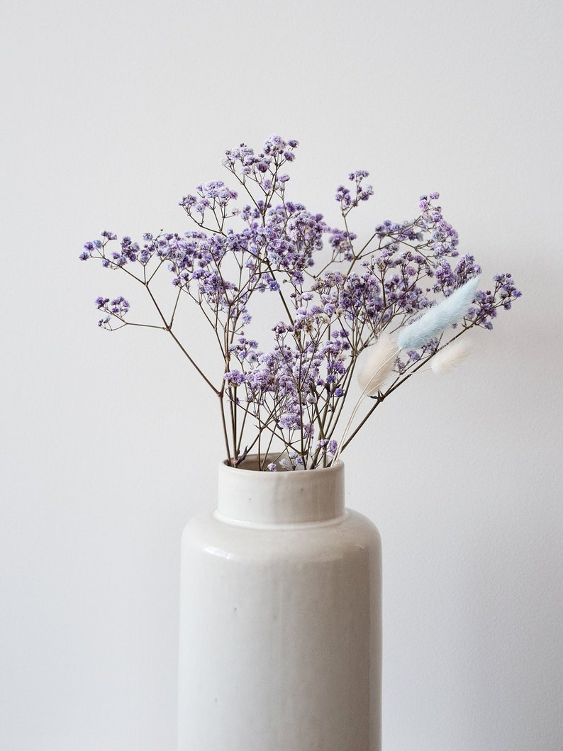 6 Stems Tiny Purple Acrylic Crystal Gypsophila Beads Wedding Bridal Flower Craft