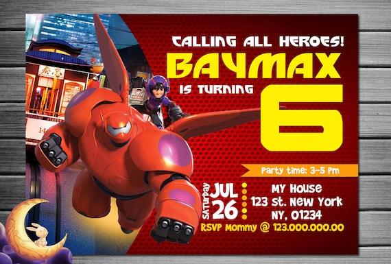 Big Hero 6 Birthday Invitation Printable Disney