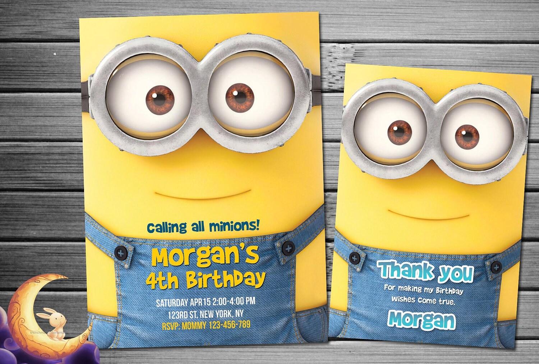 Gunstling Einladung Minion Geburtstag Minion Party Etsy