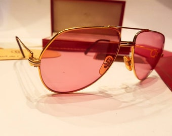 8aab660a7fba2 ... Source · Cartier sunglasses Etsy vintage cartier vendome aviator santos  ...
