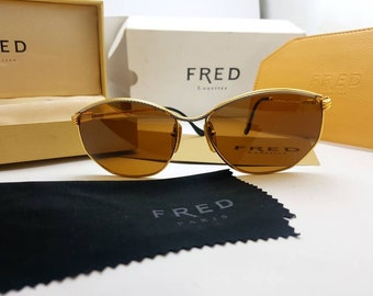 a72fa7fbc692ca vintage Fred CYTHERE Occhiali Brille Lunettes Frame Glasses w Case.