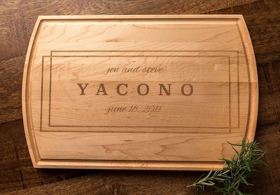 mini engraved wood cutting board personalized wedding gift etsy