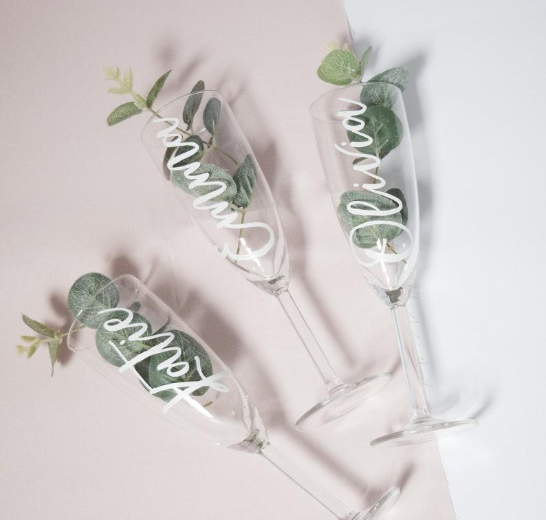 Wedding Glass  Bridesmaid Glass  Bridal Party Bridesmaid image 0