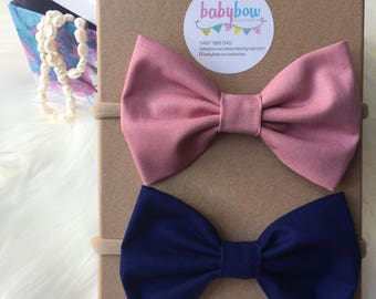 Hair bows different colours