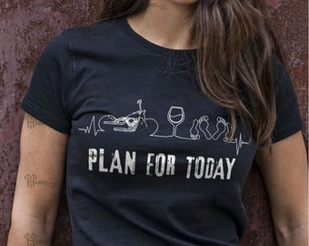 Built for speed custom motorcycles T-Shirt Womens Ladies Biker top