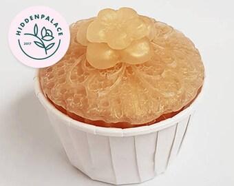 Champagne & Strawberries Cupcake   Soap