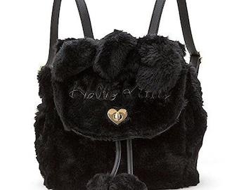 Hello Kitty Fake fur Backpack Black SANRIO from Japan KAWAII 5783f2a3597e7