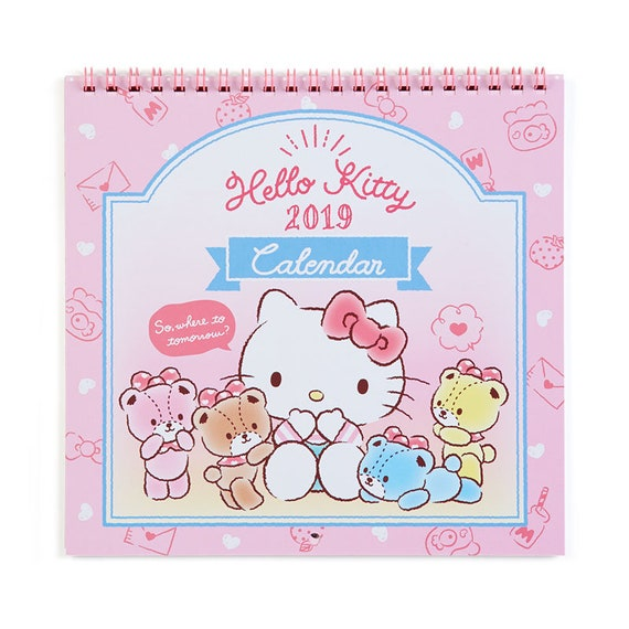 Hello Kitty Wall Calendar M 2019 Sanrio From Japan Etsy