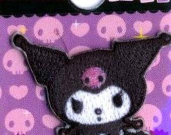KUROMI character emblem  Patch applique handicraft Sewing Supplies SANRIO from Japan kawaii